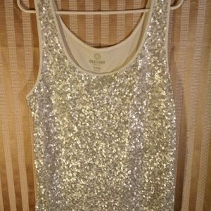 Old Navy | Sequin Striped Tank Top Size XL